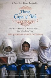 One of our recommended books is Three Cups of Tea by Greg Mortenson