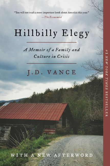 Hillbilly Elegy by JD Vance is one of our book group favorites for 2018