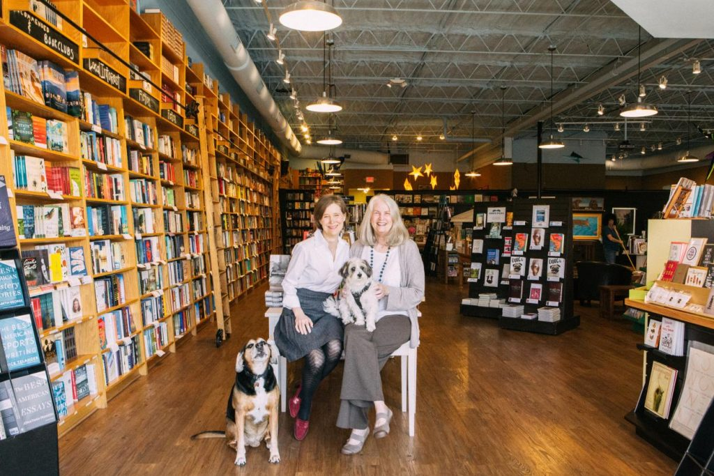 Co-owners novelist Ann Patchett and Karen Hayes at Parnassus Books