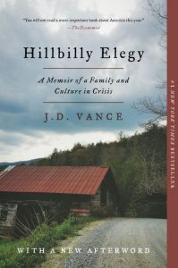 Hillbilly Elegy is one of the most read books for 2019