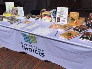 Reading Group Choices hosts events and participates in book fairs and festivals