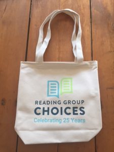 Literary quote tote bag from Reading Group Choices