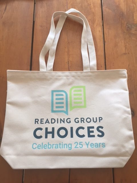 Literary quotation tote bag from Reading Group Choices