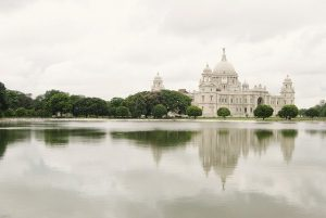 The Victoria Memorial in Calcutta, India
