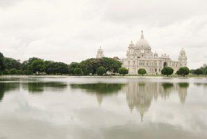 The Victoria Memorial in Calcutta, India