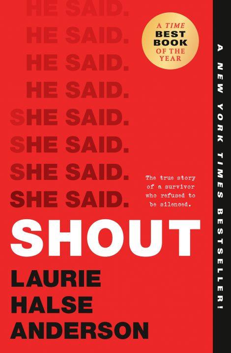 One of our recommended books for 2020 is Shout by Laurie Halse Anderson